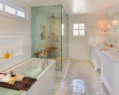 Steam shower houzz for Master bathroom with sauna