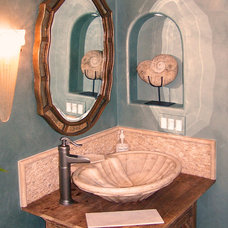 beach style bathroom by Irene Turner at Home