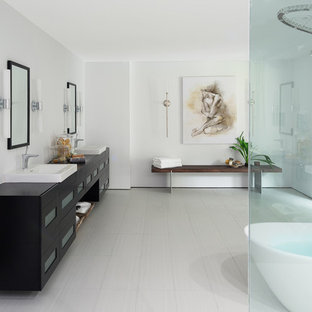 Inspiration for a contemporary bathroom remodel in Austin