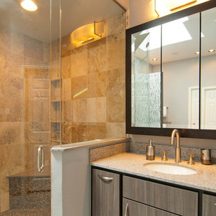 Inspiration for a contemporary bathroom remodel in Dallas