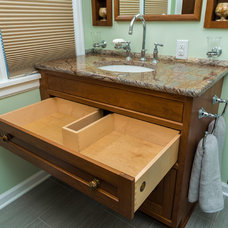 Eclectic Bathroom by Case Design & Remodeling Indy
