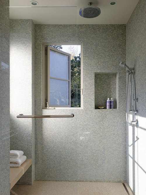 Large walk in shower houzz for Huge walk in shower