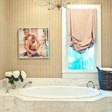 Eclectic Bathroom by Cortney Bishop Design