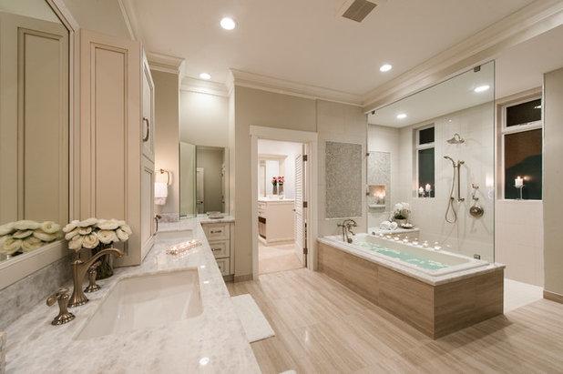 Transitional Bathroom by Archipelago Hawaii Luxury Home Designs