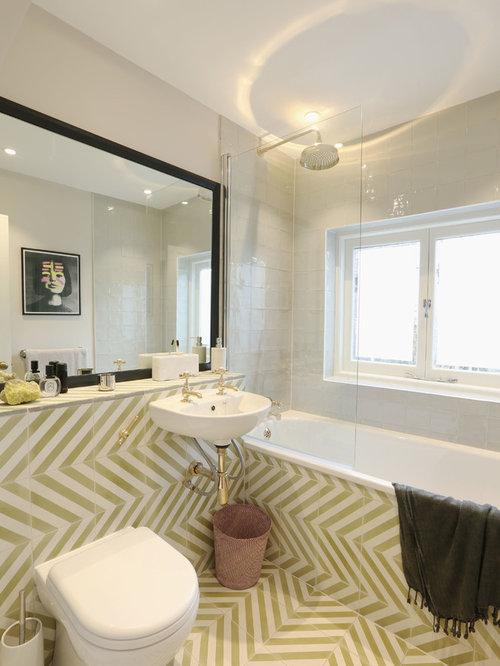 SaveEmail. Houzz   Transitional Bathroom with Linoleum Floors Design Ideas