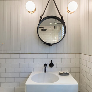 Design ideas for an eclectic bathroom in London.