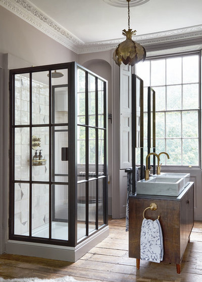 Transitional Bathroom by Run for the Hills