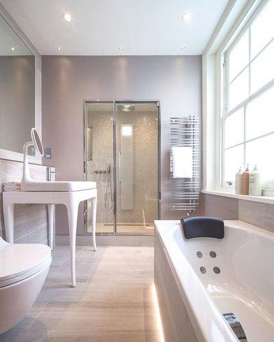 Contemporary Bathroom by Monita Cheung Design Ltd