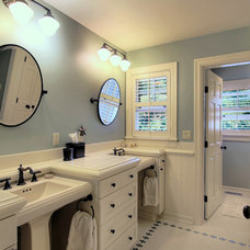 Traditional Bathroom by Hilary Young Design Associates