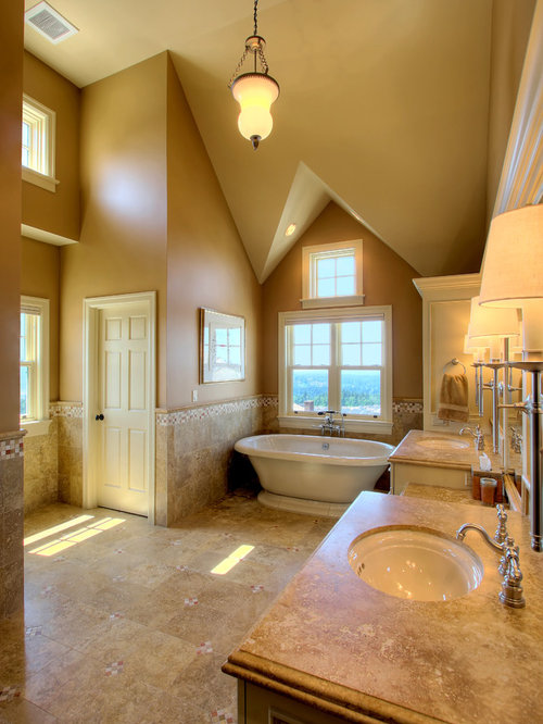 Travertine Countertops Houzz