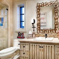 Eclectic Bathroom by JAUREGUI Architecture Interiors Construction