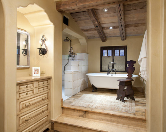 Rustic Italian Bathroom Design Ideas Remodels Photos