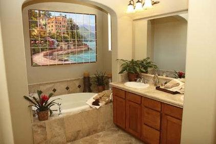Mediterranean Bathroom by Pacifica Tile Art Studio