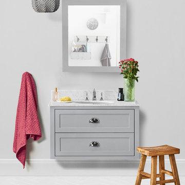Ivory 36-inch Bathroom Vanity in Hampton Gray