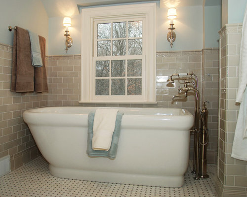 tan bathroom tile half tiled bathroom ideas and photos houzz 14616
