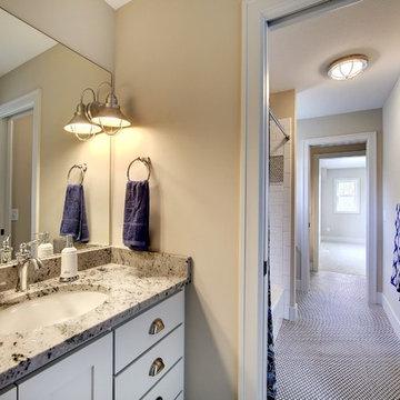 Jack and Jill Bathroom – Taylor Creek – English Inspired Home – Spring 2015