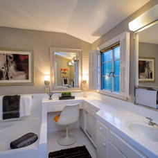 Contemporary Bathroom by Dennis Mayer, Photographer