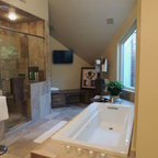 Large master bath with tub, coffee service and plasma tv - Eclectic - Bathroom - Austin - by ...