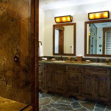 Rustic Bathroom by Teton Heritage Builders