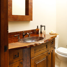 Rustic Bathroom by Teton Heritage Builders