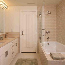 Rustic Bathroom by Howells Architecture + Design, LLC