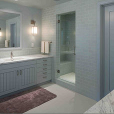 Transitional Bathroom by Howells Architecture + Design, LLC