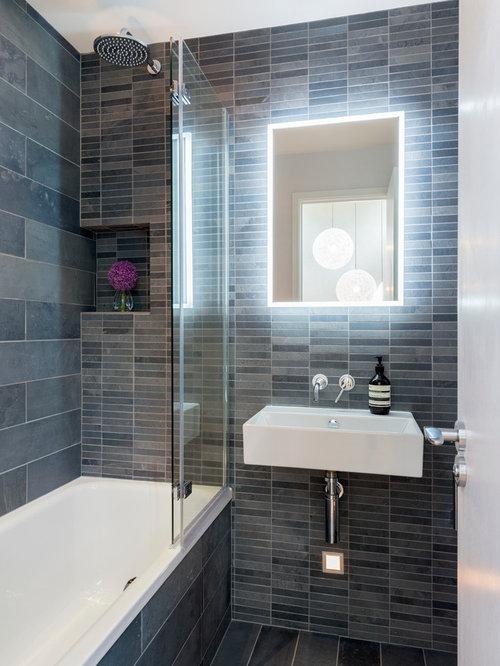 3 157 modern bathroom design photos with a shower bathtub combo