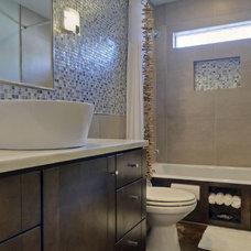 Contemporary Bathroom by Jane Haley LLC