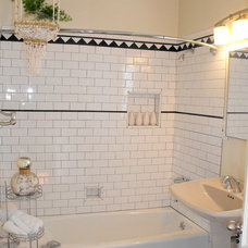 Eclectic Bathroom by Janice McCarty Design