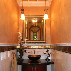 mediterranean bathroom by Janzel Kelly Interiors A.S.I.D.
