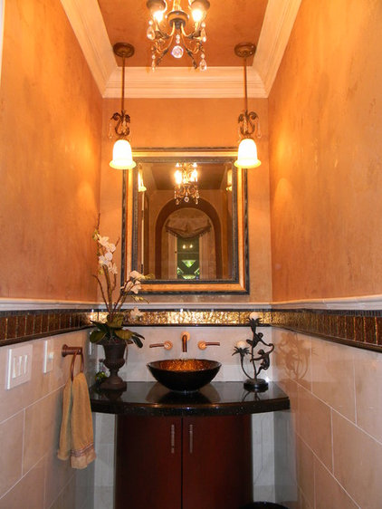Mediterranean Bathroom by Janzel Kelly Interiors A.S.I.D.