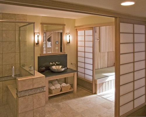 zen bathroom idea in minneapolis