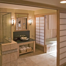 Asian Bathroom by Orfield Remodeling, Inc