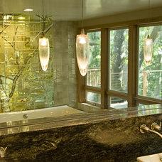 Eclectic Bathroom by Annah James Studios LLC