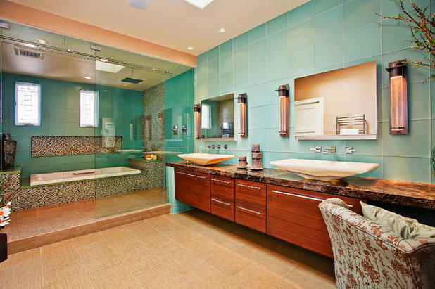 Luxury Asian Bathroom by Jackson Design u Remodeling