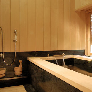 Japanese-style Bathing Room with Granite Soaking Tub