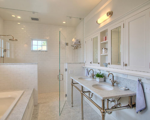 Shower With Half Wall Ideas, Pictures, Remodel and Decor