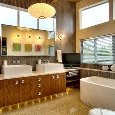 Midcentury Bathroom by J.A.S. Design-Build