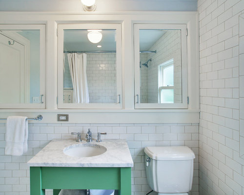 Traditional Bathroom Idea In Seattle With An Undermount Sink
