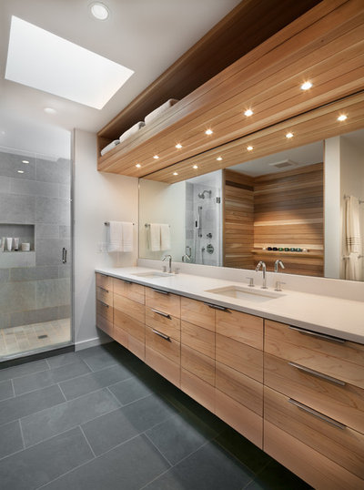Contemporary Bathroom by Lawrence Mason Architects, PLLC