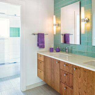 Aqua Tile Backsplash | Houzz