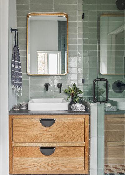 トランジショナル 浴室 by Fireclay Tile