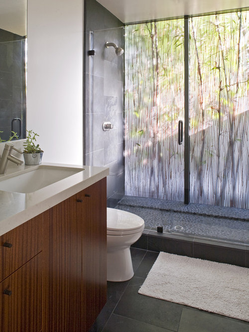 Example Of A Minimalist Alcove Shower Design In San Diego