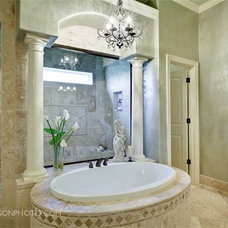 Mediterranean Bathroom by JoAnn Romano