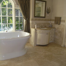 Traditional Bathroom by Mediterranean Tile and Marble