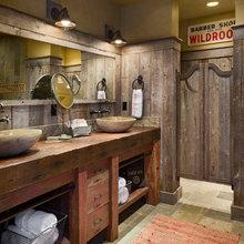 bathroom swing doors