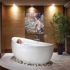 Contemporary Bathroom by MozaicoArt
