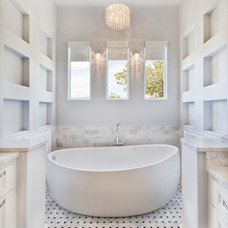 Transitional Bathroom by Robare Custom Homes