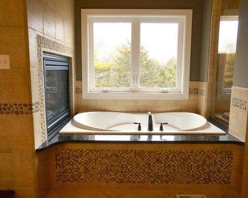 Sauna in montagna con piastrelle in ceramica foto idee arredamento