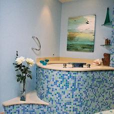 Tropical Bathroom by Jones Design Build